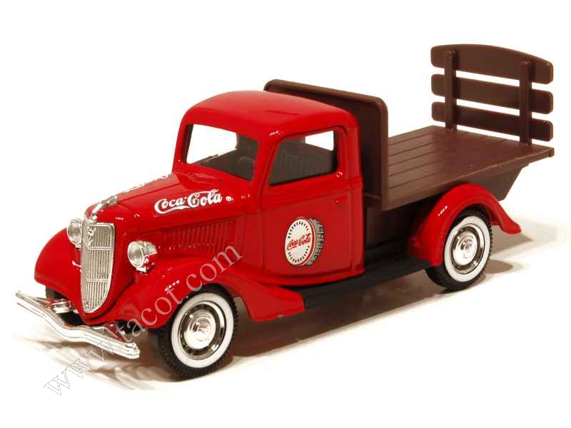 ford v8 plateau coca cola 1936 solido 1 43 autos miniatures tacot. Black Bedroom Furniture Sets. Home Design Ideas