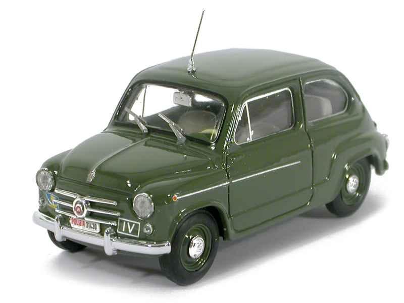 28631 Fiat 600D Police 1960