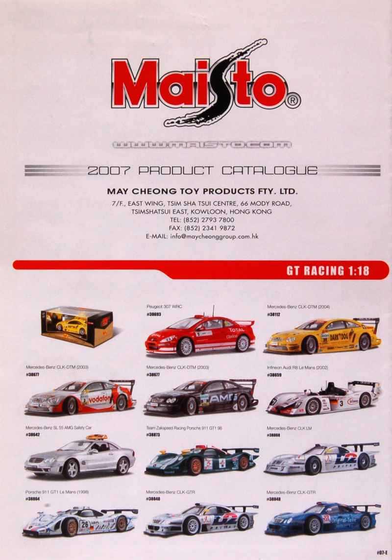 327 Catalogue Maisto 2007