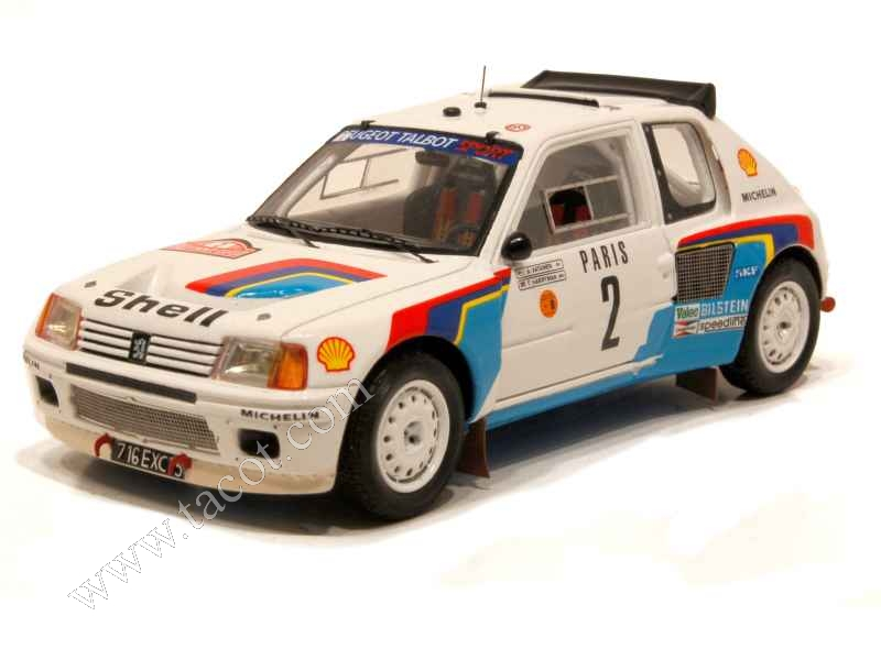 peugeot 205 t16 monte carlo 1985 spark model 1 43 autos miniatures tacot. Black Bedroom Furniture Sets. Home Design Ideas
