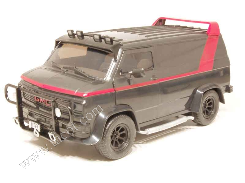 gmc van agence tous risques jazwares 1 16 autos miniatures tacot. Black Bedroom Furniture Sets. Home Design Ideas