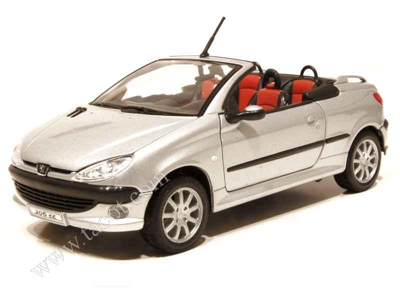 peugeot 206 cc 2001 welly 1 24 autos miniatures tacot. Black Bedroom Furniture Sets. Home Design Ideas