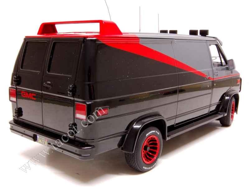 gmc van agence tous risques elite 1 18 autos miniatures tacot. Black Bedroom Furniture Sets. Home Design Ideas
