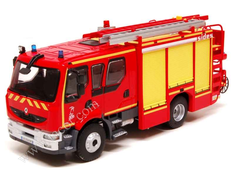 renault midlum double cabine fpt pompiers eligor camions 1 43 autos miniatures tacot. Black Bedroom Furniture Sets. Home Design Ideas