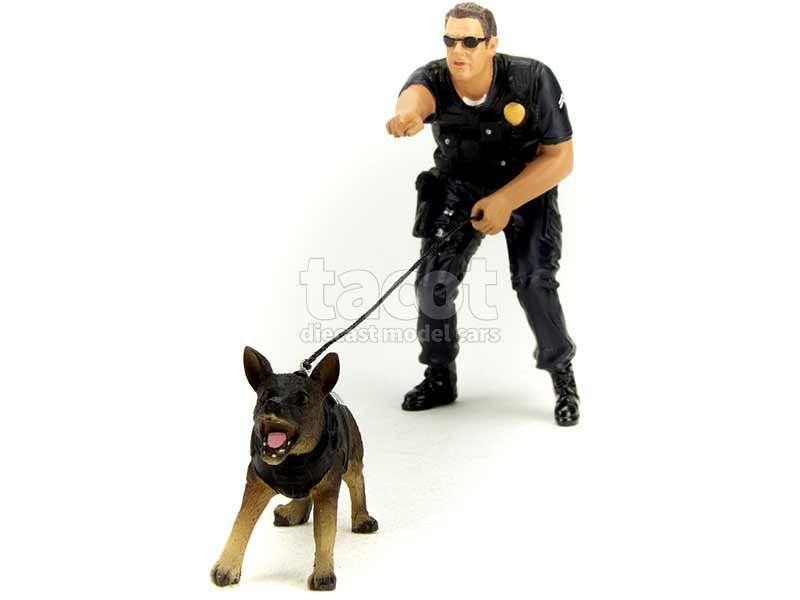 90867 Divers Policier Avec Chien