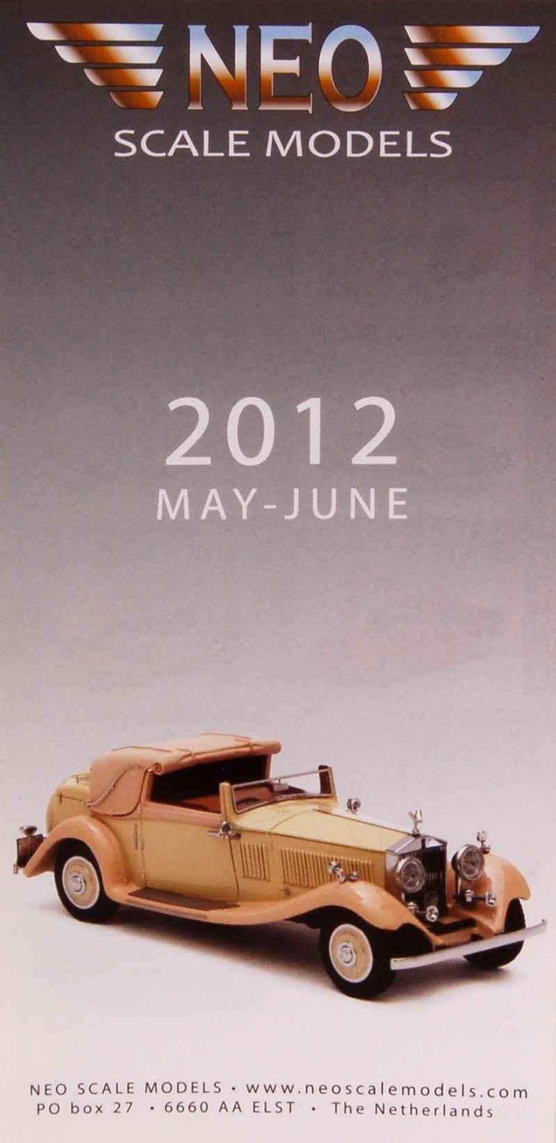 catalogue d pliant n o 2012 neo autos miniatures. Black Bedroom Furniture Sets. Home Design Ideas