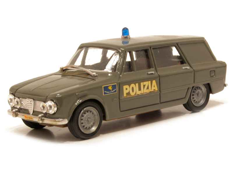 alfa romeo giulia break police 1962 progetto k 1 43 autos miniatures tacot. Black Bedroom Furniture Sets. Home Design Ideas