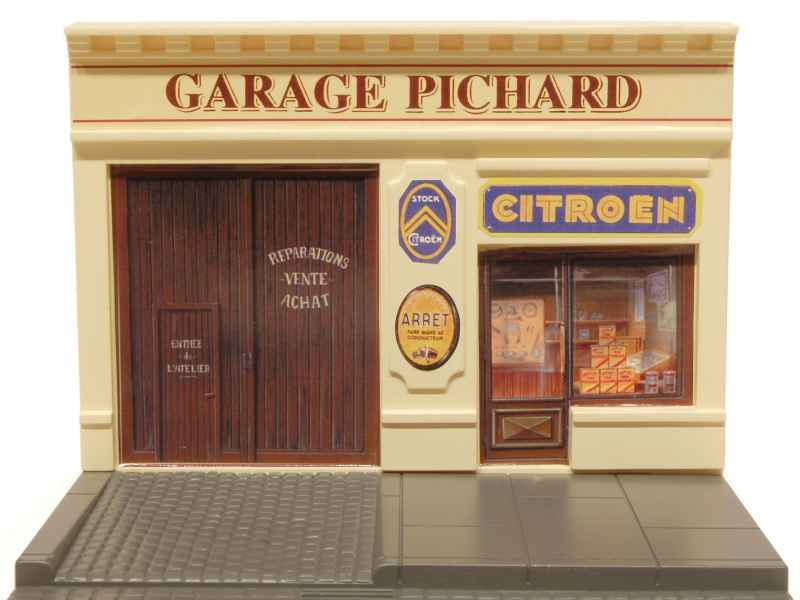 Divers citroen garage pichard norev figurines d cors 1 43 autos miniatures tacot - Garage miniature citroen ...
