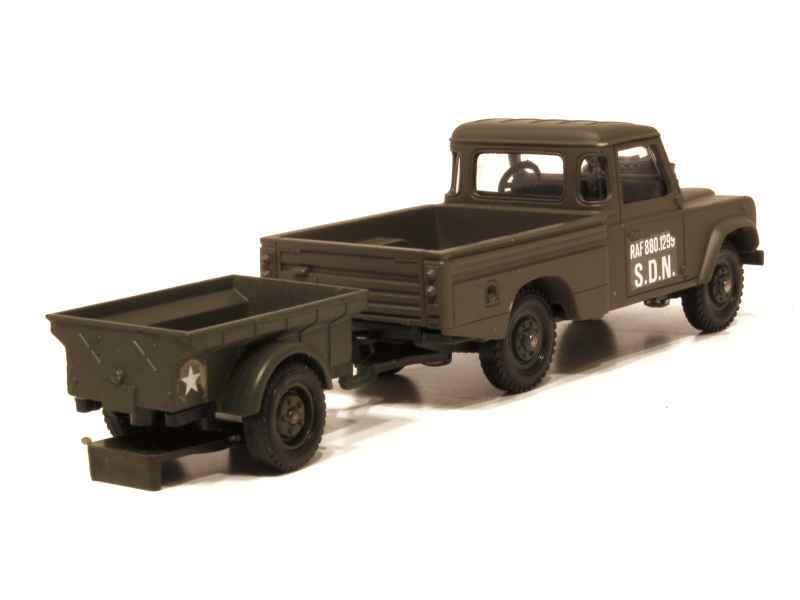 land rover defender pick up remorque militaire solido 1 43 autos miniatures tacot. Black Bedroom Furniture Sets. Home Design Ideas