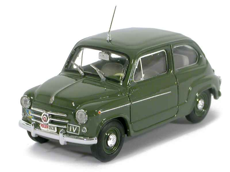 28631 Fiat 600D Police 1960