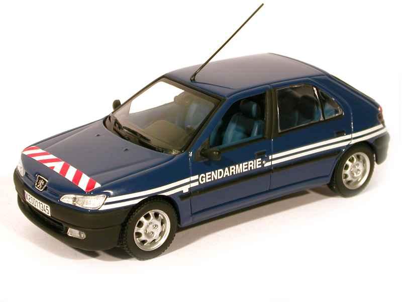 peugeot 306 berline 5 doors gendarmerie minichamps 1 43 autos miniatures tacot. Black Bedroom Furniture Sets. Home Design Ideas