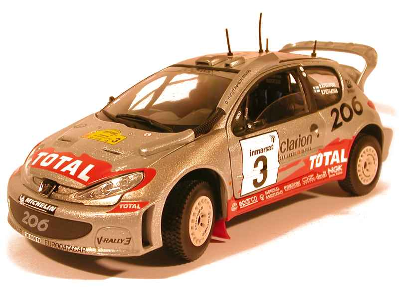 38813 Peugeot 206 WRC Rally Safari 2002