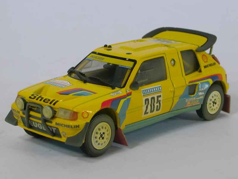 peugeot 205 t16 paris dakar 1987 norev 1 43 autos miniatures tacot. Black Bedroom Furniture Sets. Home Design Ideas