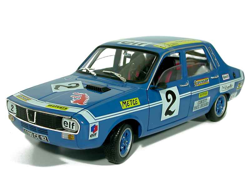 renault r12 gordini coupe paul ricard 1971 solido 1 18 autos miniatures tacot. Black Bedroom Furniture Sets. Home Design Ideas