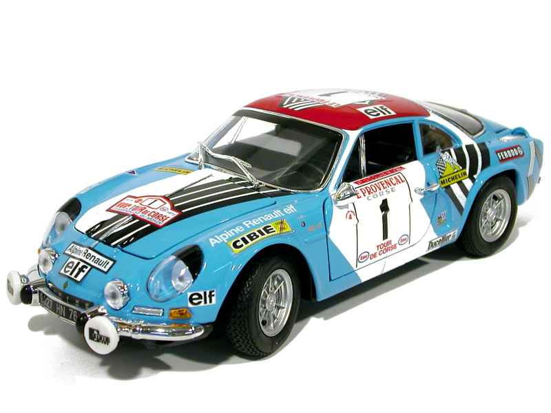alpine a110 tour de corse 1973 maisto 1 18 autos miniatures tacot. Black Bedroom Furniture Sets. Home Design Ideas