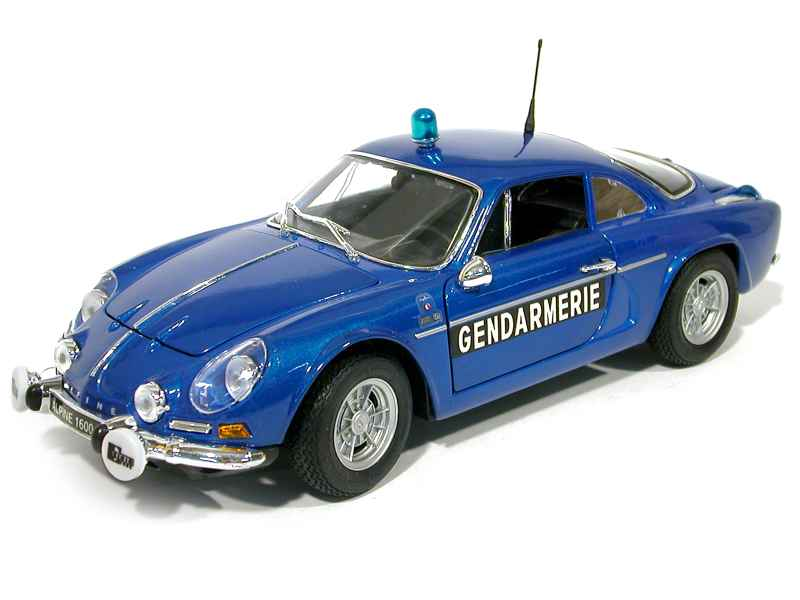 alpine a110 1600 s gendarmerie maisto 1 18 autos miniatures tacot. Black Bedroom Furniture Sets. Home Design Ideas