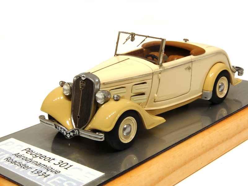 peugeot 301 aerodynamique roadster 1934 provence miniatures 1 43 autos miniatures tacot. Black Bedroom Furniture Sets. Home Design Ideas