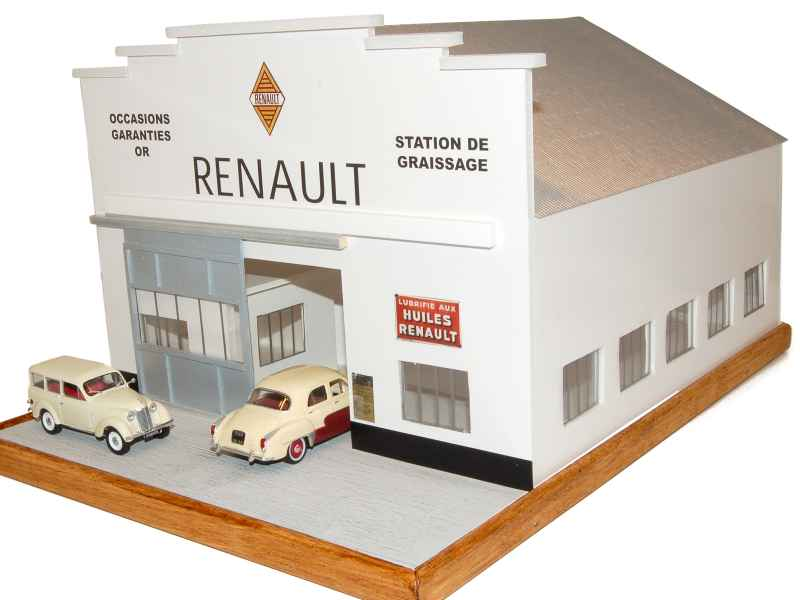 Divers Garage Renault 1960 Mise En Scene 1 43