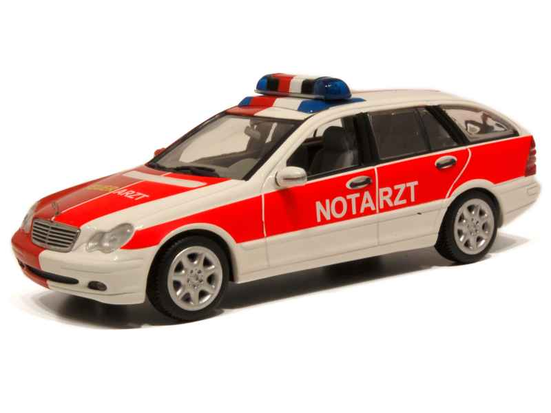mercedes c class break w203 ambulance 2001 minichamps 1 43 autos miniatures tacot. Black Bedroom Furniture Sets. Home Design Ideas