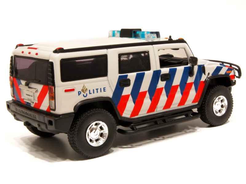 hummer h2 suv police norev 1 43 autos miniatures tacot. Black Bedroom Furniture Sets. Home Design Ideas