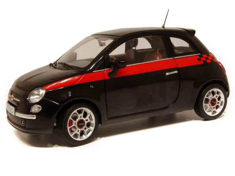 fiat 500 sport 2007 norev 1 18 autos miniatures tacot. Black Bedroom Furniture Sets. Home Design Ideas