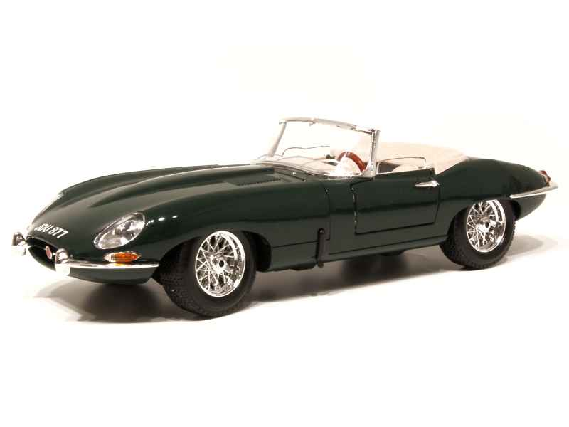 jaguar type e cabriolet 1961 burago 1 18 autos miniatures tacot. Black Bedroom Furniture Sets. Home Design Ideas