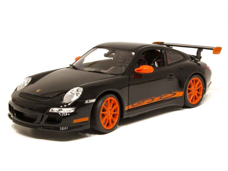 porsche 911 997 gt3 rs 2007 welly 1 18 autos miniatures tacot. Black Bedroom Furniture Sets. Home Design Ideas