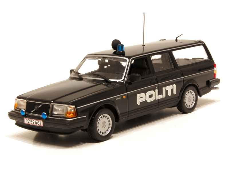 volvo 240 gl break police 1986 minichamps 1 43 autos miniatures tacot. Black Bedroom Furniture Sets. Home Design Ideas