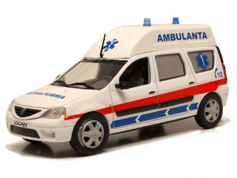 renault dacia logan ambulance eligor 1 43 autos miniatures tacot. Black Bedroom Furniture Sets. Home Design Ideas