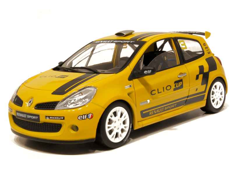 renault clio iii rs cup 2006 solido 1 18 autos miniatures tacot. Black Bedroom Furniture Sets. Home Design Ideas