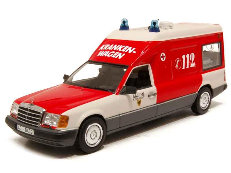 mercedes e class s124 ambulance pompiers 1991 minichamps 1 43 autos miniatures tacot. Black Bedroom Furniture Sets. Home Design Ideas