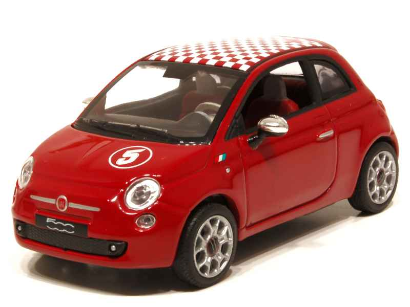 fiat 500 sport 2009 norev 1 43 autos miniatures tacot. Black Bedroom Furniture Sets. Home Design Ideas