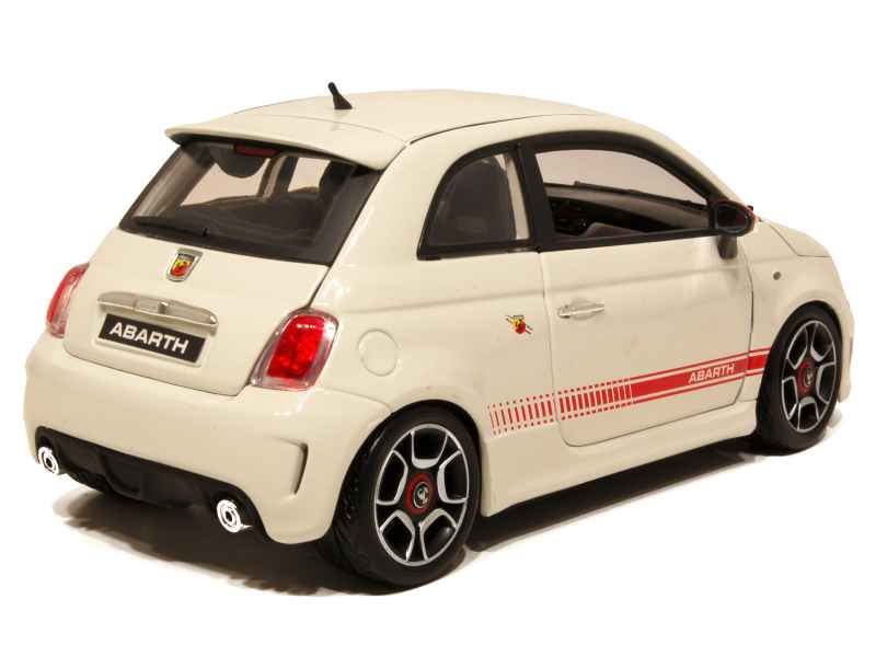 fiat 500 abarth 2008 burago 1 18 autos miniatures tacot. Black Bedroom Furniture Sets. Home Design Ideas