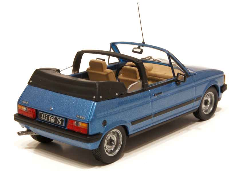 talbot samba cabriolet 1983 ixo 1 43 autos miniatures tacot. Black Bedroom Furniture Sets. Home Design Ideas