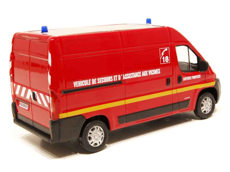 peugeot boxer pompiers 2008 mondo motors 1 43 autos miniatures tacot. Black Bedroom Furniture Sets. Home Design Ideas