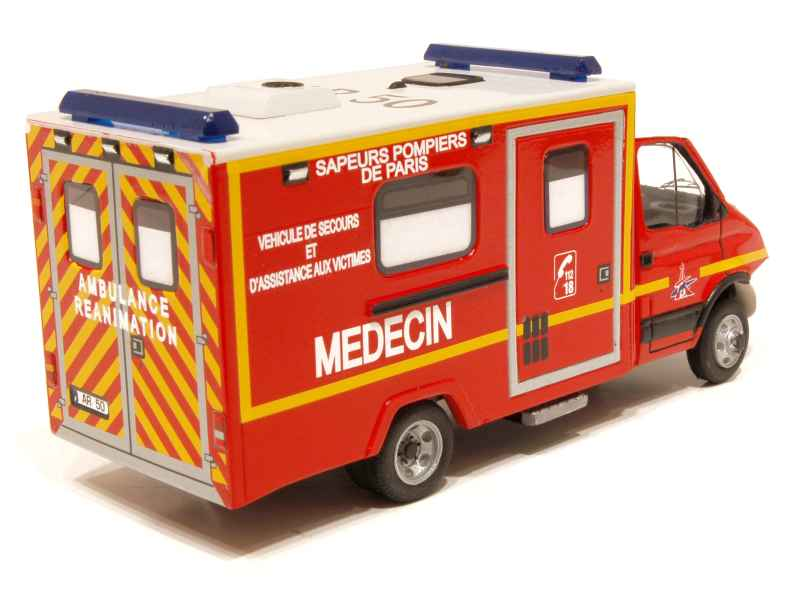 iveco daily ambulance r animation pompiers mvi 1 43 autos miniatures tacot. Black Bedroom Furniture Sets. Home Design Ideas