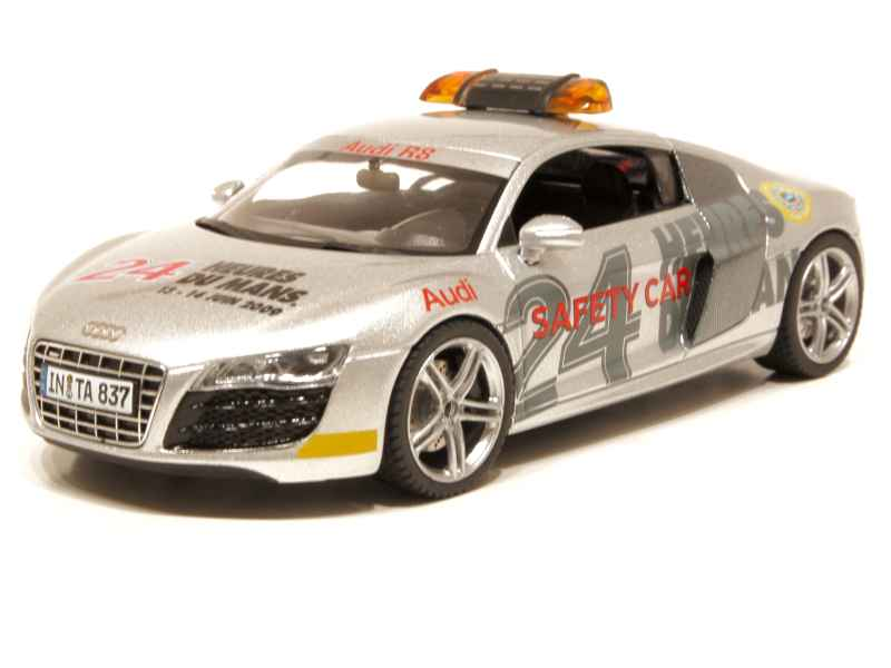 audi r8 v10 safety car le mans 2009 schuco 1 43 autos miniatures tacot. Black Bedroom Furniture Sets. Home Design Ideas