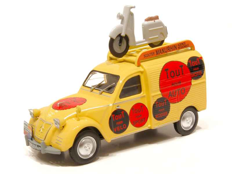 citro n 2cv fourgonnette 1957 eligor 1 43 autos miniatures tacot. Black Bedroom Furniture Sets. Home Design Ideas