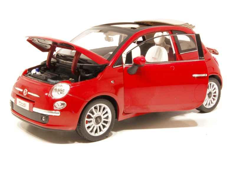 fiat 500 cabriolet 2009 norev 1 18 autos miniatures tacot. Black Bedroom Furniture Sets. Home Design Ideas