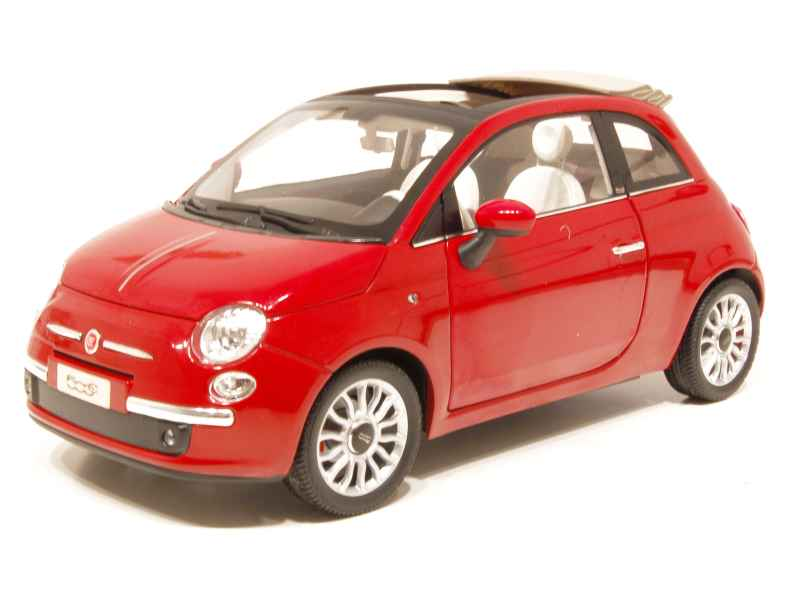 fiat 500 cabriolet 2009 norev 1 18 autos miniatures tacot. Black Bedroom Furniture Sets. Home Design Ideas