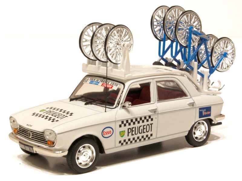 peugeot 204 berline tour de france cycliste 1970 norev 1 43 autos miniatures tacot. Black Bedroom Furniture Sets. Home Design Ideas