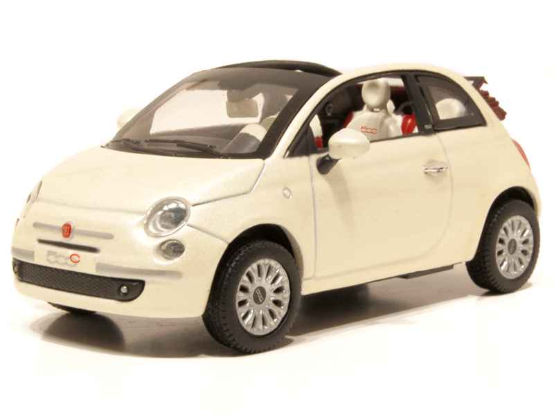 fiat 500 cabriolet 2009 norev 1 43 autos miniatures tacot. Black Bedroom Furniture Sets. Home Design Ideas
