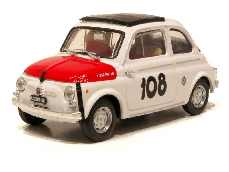 fiat 500 abarth 595 1965 brumm 1 43 autos miniatures tacot. Black Bedroom Furniture Sets. Home Design Ideas