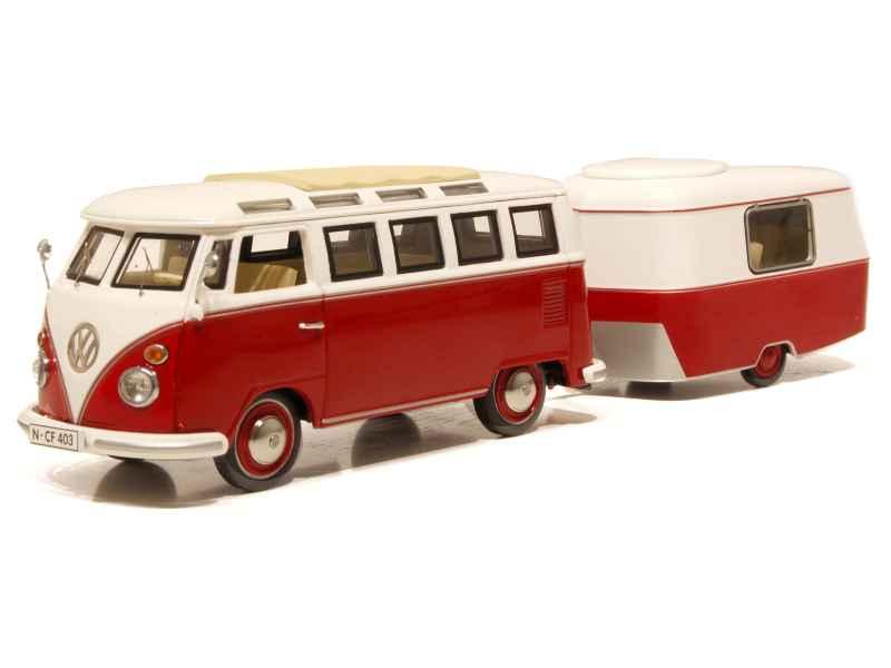 Volkswagen - Combi T1 Samba Bus - Schuco - 1/43 - Autos Miniatures ... Volkswagen Occasions