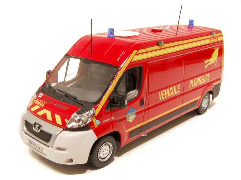 peugeot boxer pompiers heinis 2010 norev 1 43 autos miniatures tacot. Black Bedroom Furniture Sets. Home Design Ideas