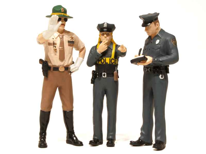 65540 Divers Set Figurines Police