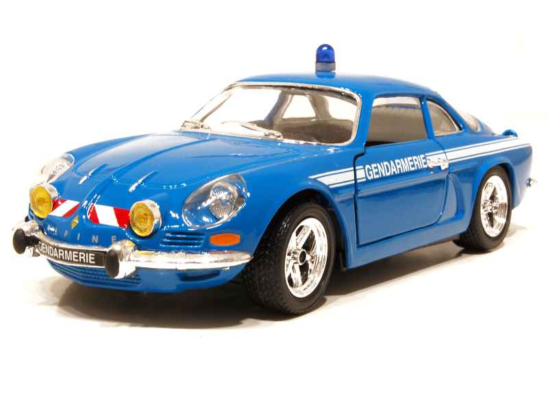 alpine a110 gendarmerie 1971 burago 1 24 autos miniatures tacot. Black Bedroom Furniture Sets. Home Design Ideas