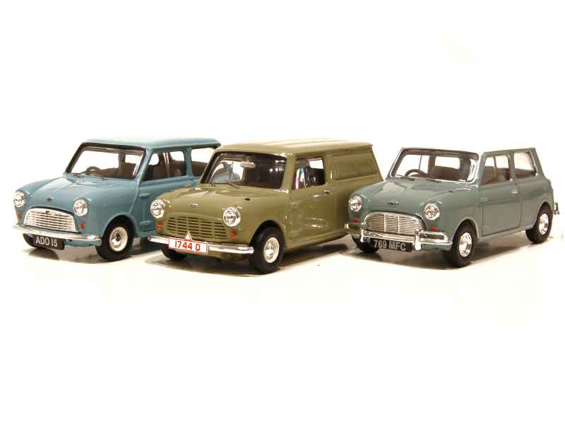 austin mini set 50th anniversary vanguards 1 43 autos miniatures tacot. Black Bedroom Furniture Sets. Home Design Ideas