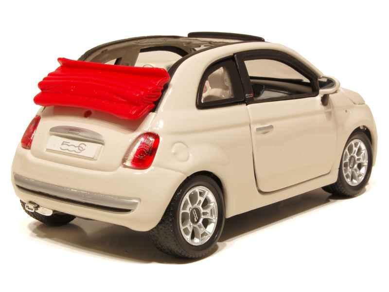 fiat 500 cabriolet 2009 burago 1 24 autos. Black Bedroom Furniture Sets. Home Design Ideas