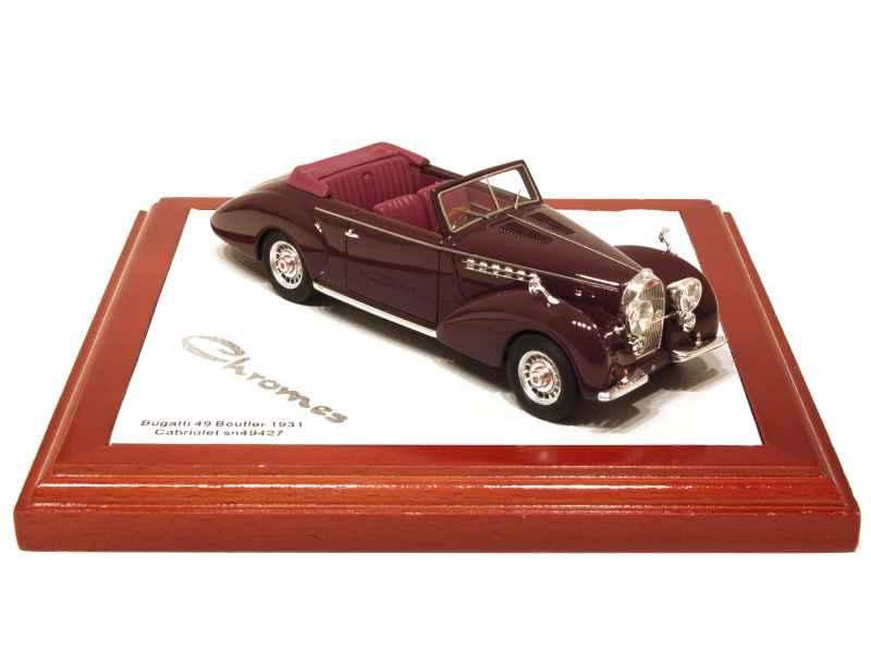 Chromes - Bugatti Type 49 Cabriolet Beutler 1931 - 1 43